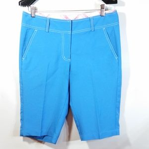 Tommy Armour Golf Shorts Dri Logic Blue Flat Front